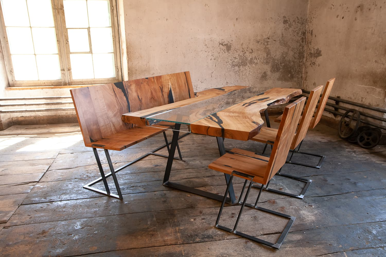 Rustico Stuhl Tisch Set Kombination Walser Möbel